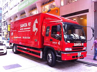 Truck driver - An Isuzu Records Management truck