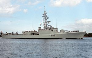 HMCS Kootenay (DDE 258) at Pearl Harbor 1986.JPEG