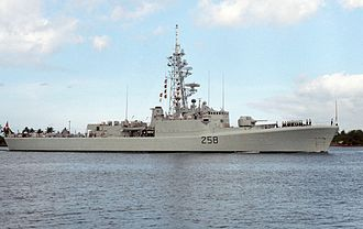 Restigouche-class destroyer - Kootenay at Pearl Harbor in 1986