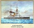 HMS Majestic, Diamond Jubilee 1897 RMG PU0296.jpg