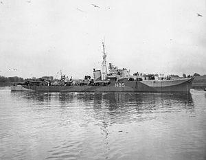 HMS Roebuck (H95) - Image: HMS Roebuck 1943 IWM FL 18252