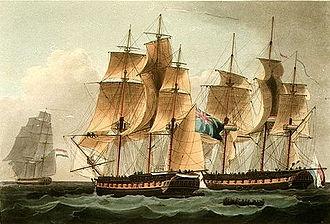 HMS Sirius (1797) - Image: HMS Sirius vs Furie, 1798 b