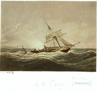 Cruizer-class brig-sloop - Image: HMS Surinam struck by lightning