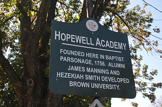 Hopewell, New Jersey - Image: HOPEWELL ACADEMY SIGN IN HOPEWELL BOROUGH, MERCER NJ
