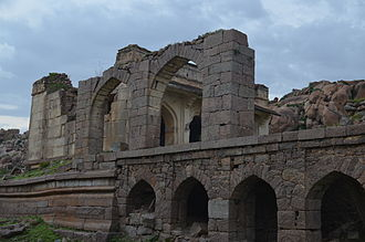 Kurnool district - Hall of The Nawab at Adoni fort in Kurnool District
