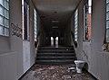 Hallway with an abandoned toilet in Sanatorium du Basil, Stoumont, Belgium (DSCF3571-hdr).jpg