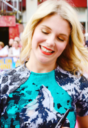 Hannah Arterton at Walking on sunshine premiere uk.png