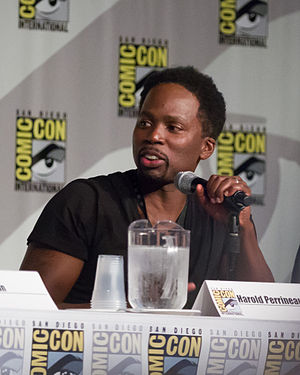 Harold Perrineau - Perrineau at the 2014 Comic Con presentation for Constantine