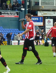 Harry Maguire playing for Sheffield United