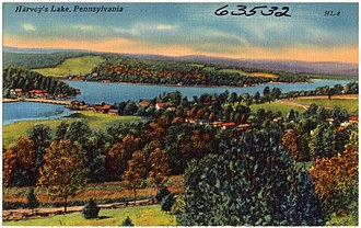 Back Mountain, Pennsylvania - Postcard of Harveys Lake and the Back Mountain (early 20th century)