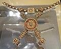 Hathphul (bracelet), India, Rajasthan, probably Jaipur, Mughal period, 18th century, gold, white sapphires, rubies, enamel - Royal Ontario Museum - DSC04563.JPG