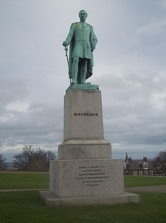 Henry Havelock - The statue of General Havelock in Mowbray Park, Sunderland