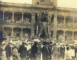 Hawaiian Organic Act - Admission Day ceremonies, June 14, 1900