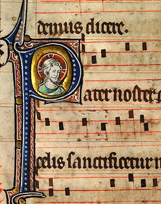 Composer - Musical notation from a Catholic Missal, c.1310–1320