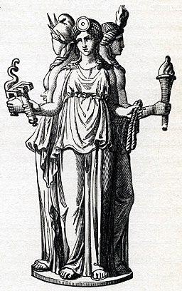 Hecate, Greek goddess of the crossroads by Stéphane Mallarmé