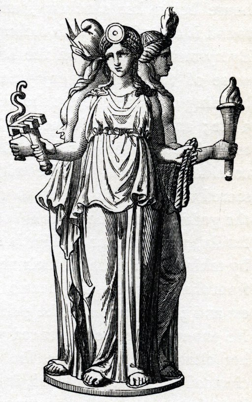 Hecate, Greek goddess of the crossroads by Stéphane Mallarmé