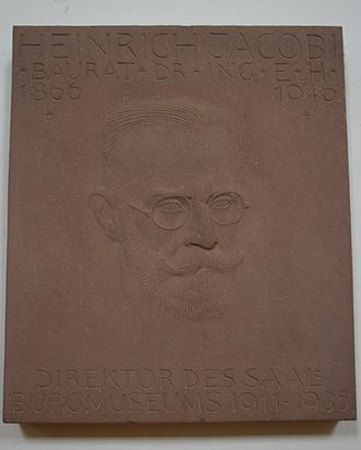 Heinrich Jacobi (archaeologist) - Sandstone memorial to Heinrich Jacobi at the Saalburgmuseum