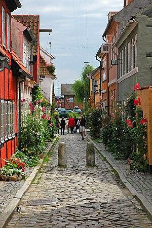 Helsingør - An alley in Helsingør