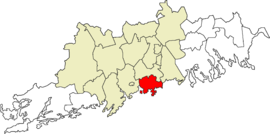 Location in the Uusimaa region and the Greater Helsinki sub-region