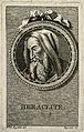 Heraclitus. Line engraving by S. Beyssent after Mlle. C. Rey Wellcome V0002698.jpg