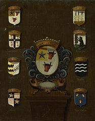 Coat of Arms of Sara van Os, Wife of Jan van Reyersbergh with its eight quarterings