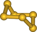 Ball and stick model of hexathiane