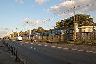 Hydropark (Kiev Metro) - Image: Hidropark metro station Kiev 2011 021