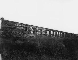 Farmville, Virginia - High Bridge Photo by Timothy H. O'Sullivan, 1865