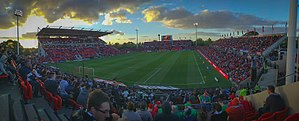 Hindmarsh Stadium - Image: Hindmarsh Stadium Panorama from Away End, October 2016