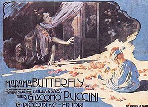 Adolfo Hohenstein - Adolfo Hohenstein: poster for Madama Butterfly by Giacomo Puccini (1904).