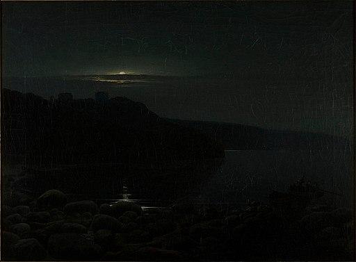Holger Drachmann - Hammershus in the moonlight - Google Art Project