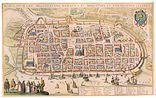 Karte Rostocks von Wenzel Hollar (1624/25)