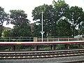 Hollis LIRR Station; Westbound Platform Sign.JPG