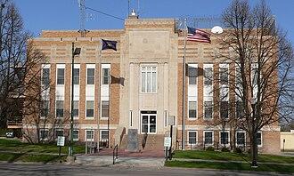 Holt County, Nebraska - Image: Holt County, Nebraska courthouse from W