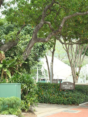 Speakers' Corner, Singapore - Hong Lim Park was chosen as the location for Speakers' Corner as, among other reasons, it was a historical venue for political speeches and rallies