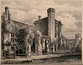 Hospital of St. Cross, Winchester, Hampshire. Etching by J. Wellcome V0014613.jpg