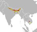 Houbaropsis bengalensis map.png