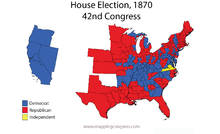 United States House Of Representatives Elections Wikipedia - Map of us in 1870