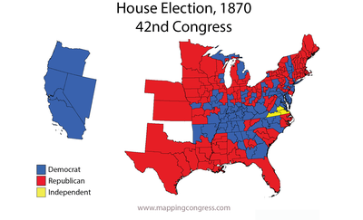Map Of Us In 1870.1870 United States Elections Wikipedia