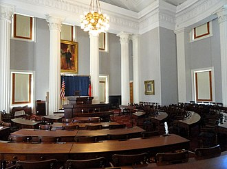 North Carolina Democratic Party - Old House of Representatives Chamber, used until 1963 at the State Capitol