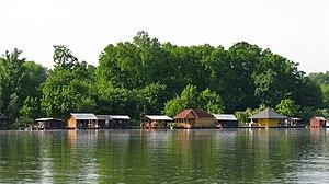 Ada Međica - House-boats (Splavovi) on the Sava