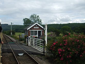 Howsham, North Yorkshire - Image: Howsham signal box and crossing geograph.org.uk 1016371