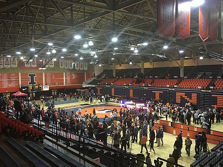 Huff Hall following the last wrestling meet of the 2019-2020 season.