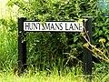 Huntsmans Lane sign (geograph 4038886).jpg