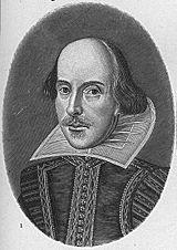 William Shakespeare, a major influence on modern Western literature.
