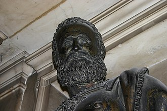 Gian Giacomo Medici - Medici's bronze portrait, from his monument in the Cathedral of Milan, by Leone Leoni.