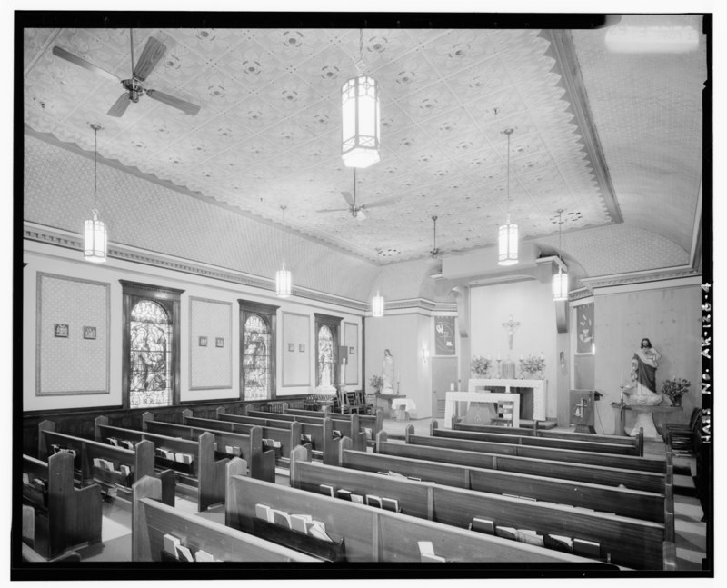 INTERIOR, LOOKING TOWARD ALTAR - Immaculate Conception Roman Catholic Church, 115 North Cushman Street, Fairbanks, Fairbanks North Star Borough, AK HABS AK,6-FAIBA,4-4.tif