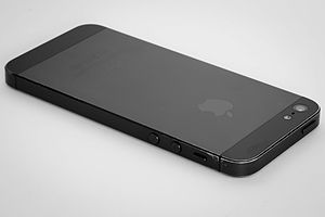 IPhone 5 - Example of an iPhone 5 with chipped coating.