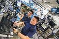 ISS-44 Kjell Lindgren and Kimiya Yui in the Destiny module.jpg