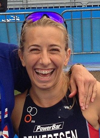 Best Female Athlete with a Disability ESPY Award - Image: ITU Paratriathlon Worlds Handler for Sarah Reinertsen (9804038075) Cropped